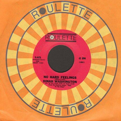 Washington, Dinah - No Hard Feelings/Romance In The Dark - NM9/ - 45 rpm Records
