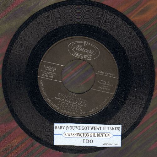 Washington, Dinah & Brook Benton - Baby (You've Got What It Takes)/I Do (with juke box label) - EX8/ - 45 rpm Records