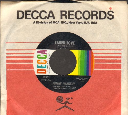 Wakely, Jimmy & Betsy Jones - Faded Love/Losing My Mind (with Decca company sleeve) - NM9/ - 45 rpm Records