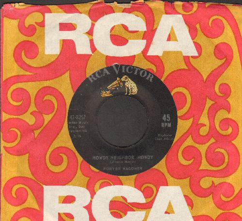 Wagoner, Porter - Howdy Neighbor Howdy/Find Out (with RCA company sleeve) - EX8/ - 45 rpm Records