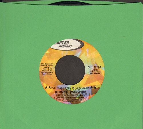 Warwick, Dionne - I'll Never Fall In Love Again/What The World Needs Now Is Love (bb) - NM9/ - 45 rpm Records