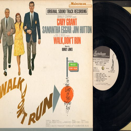 Jones, Quincy - Walk, Don't Run - Original Motion Picture Sound Track with Jazz Score by Quincy Jones (Vinyl MONO LP record, DJ advance pressing, woc) - NM9/EX8 - LP Records