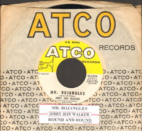 Walker, Jerry Jeff - Mr. Bojangles/Round And Round (with juke box label and Atco company sleeve) - NM9/ - 45 rpm Records