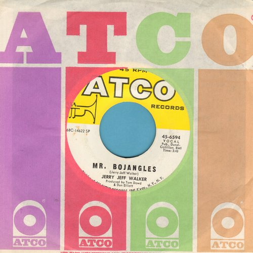 Walker, Jerry Jeff - Mr. Bojangles/Round And Round (with Atco company sleeve) - VG7/ - 45 rpm Records