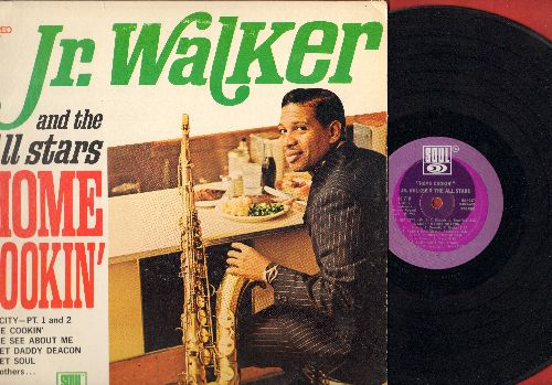 Walker, Jr. & The All Stars - Home Cookin': Come See About Me, Fanny Mae, Sweet Daddy Deacon, Hip City (Parts 1 + 2) (Vinyl STEREO LP record) - VG7/VG7 - LP Records
