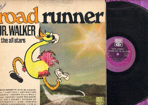 Walker, Jr. & The All Stars - Road Runner: How Sweet It Is (To Be Loved By You), Money (That's What I Want), Pucker Up Buttercup, (I'm A) Road Runner (Vinyl STEREO LP record, small cut-out on back cover) - EX8/VG7 - LP Records