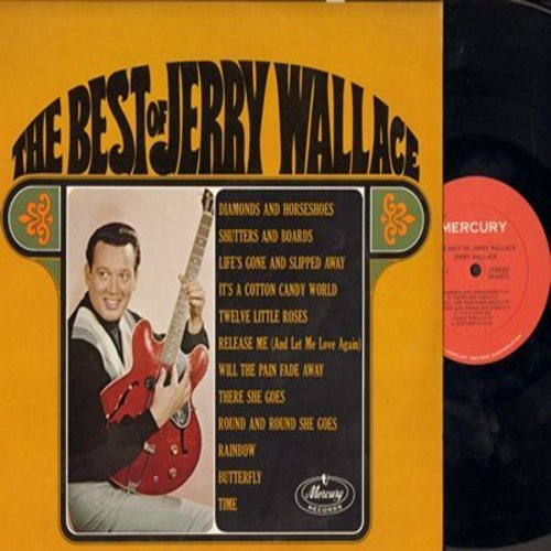 Wallace, Jerry - The Best Of Jerry Wallace: Rainbow,Butterfly, It's A Cotton Candy World, Release Me, There She Goes (Vinyl STEREO LP record, NICE condition!) - NM9/NM9 - LP Records