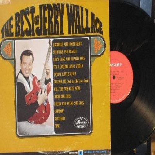 Wallace, Jerry - The Best Of Jerry Wallace: Rainbow,Butterfly, It's A Cotton Candy World, Release Me, There She Goes (Vinyl MONO LP record) - NM9/VG6 - LP Records