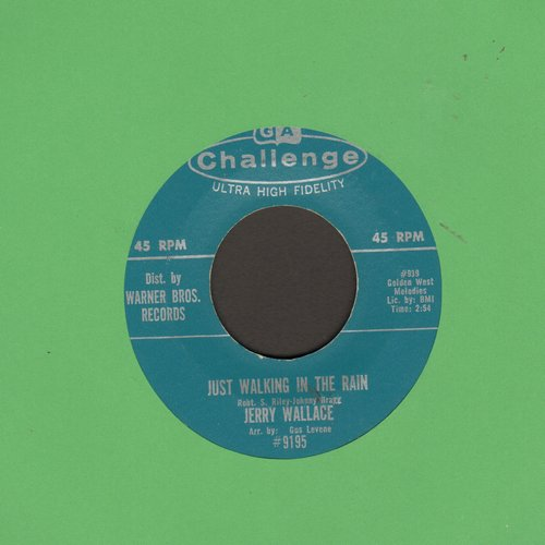 Wallace, Jerry - Just Walking In The Rain/San Francisco Mama - EX8/ - 45 rpm Records