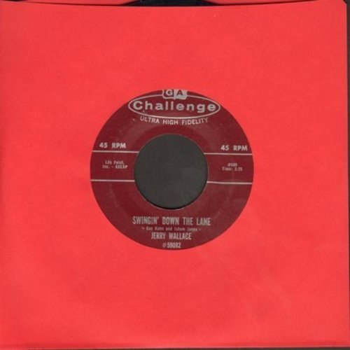Wallace, Jerry - Swingin' Down The Lane/Teardrops In The rain - EX8/ - 45 rpm Records