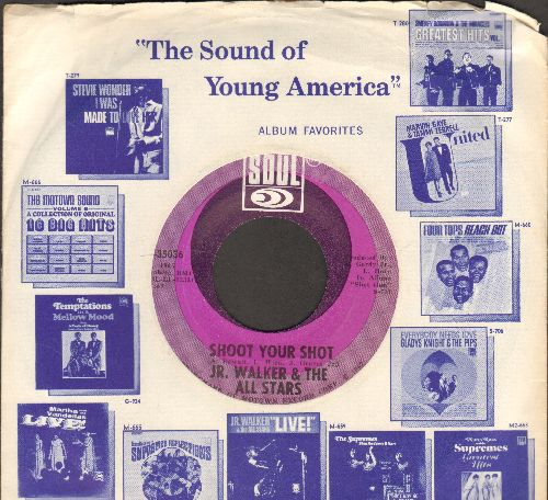 Walker, Jr. & The All Stars - Shoot Your Shot/Ain't That The Truth (with Motown company sleeve)(bb) - NM9/ - 45 rpm Records