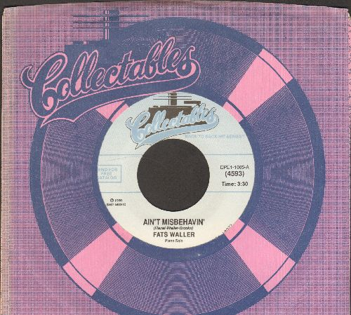 Waller, Fats - Ain't Misbehavin'/The Jitterbug Waltz (double-hit re-issue with Collectables company sleeve) - M10/ - 45 rpm Records