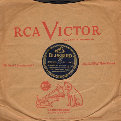 Waller, Fats - Shortnin' Bread/Mamacita (10 inch 78 rpm record with RCA company sleeve) - VG6/ - 78 rpm