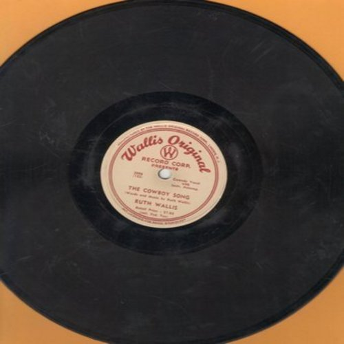 Wallis, Ruth - The Hawaiian Lei Song/The Vacation Song (10 inch 78rpm record) - VG7/ - 78 rpm
