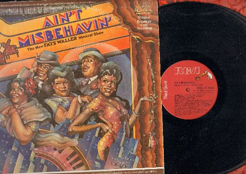 Ain't Misbehavin' - Ain't Misbehavin' - The New Fats Waller Musical Show (2 vinyl STEREO LP records, RED SEAL issue in gate-fold cover) - NM9/VG7 - LP Records