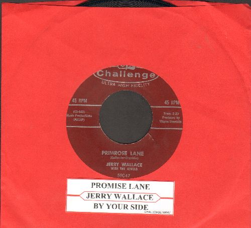 Wallace, Jerry - Primrose Lane/By Your Side (with juke box label) - EX8/ - 45 rpm Records