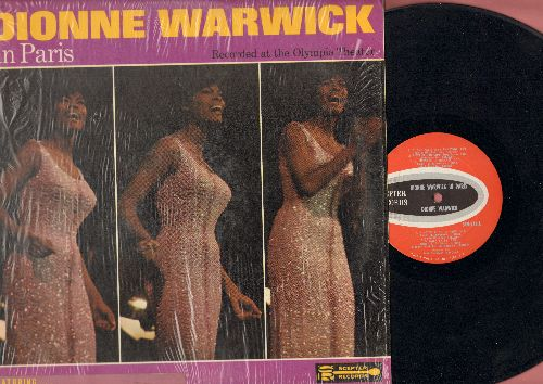 Warwick, Dionne - Dionne Warwick in Paris - Recorded at the Olympia Theater: I Love Paris, C'est Si Bon, La Vie En Rose, Massage To Michael (Vinyl LP record, US Pressing sung in English and French) - EX8/NM9 - LP Records