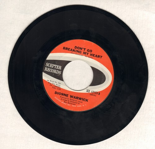 Warwick, Dionne - Don't Go Breaking My Heart/Trains And Boats And Planes (bb) - EX8/ - 45 rpm Records