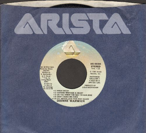Warwick, Dionne - There's A Long Road Ahead Of Us/LIVE Medley of Dionne Warwick Hits (with Arisa company sleeve) - NM9/ - 45 rpm Records