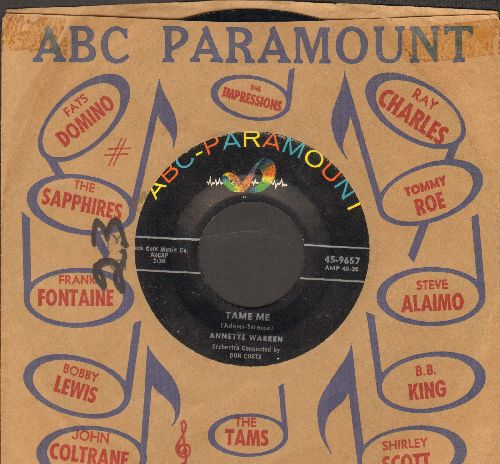Warren, Annette - Tame Me/Circle (with ABC-Paramount company sleeve) - VG7/ - 45 rpm Records