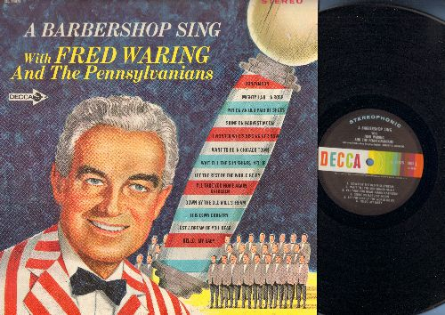 Waring, Fred & His Pennsylvanians - A Barbershop Sing: Honeymoon, Shine On Harvest Moon, I Wonder Who's Kissing Her Now, I'll Take You Home Again Kathleen, Hello My Baby (Vinyl STEREO LP record) - NM9/EX8 - LP Records