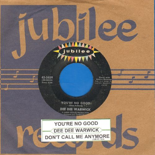 Warwick, Dee Dee - You're No Good/Don't Call Me Anymore (with Jubilee company sleeve and juke box label) - VG7/ - 45 rpm Records
