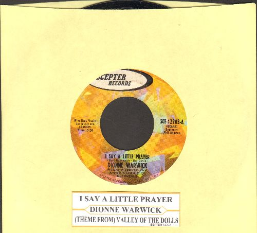 Warwick, Dionne - I Say A Little Prayer/Theme From Valley Of The Dolls (with juke box label) - EX8/ - 45 rpm Records