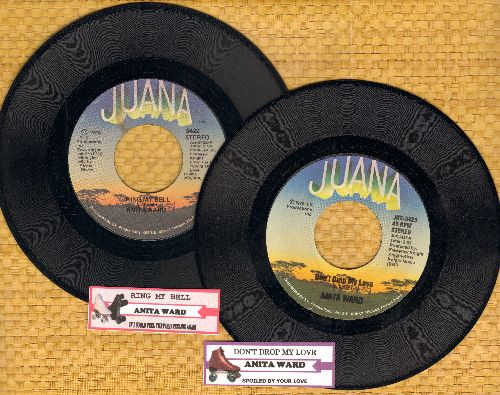 Ward, Anita - 2 for 1 Special: Ring My Bell/Don't Drop My Love (2 vintage first issue 45rpm records with juke box label for the price of 1, Shipped in plain white paper sleeves) - EX8/ - 45 rpm Records