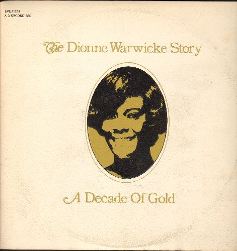 Warwick, Dionne - The Dionne Warwicke Story - A Decade Of Gold: I Say A Little Prayer, Don't Make Me Over, Aquarius, Alfie, Goin' Out Of My Head (2 vinyl STEREO LP records, gate-fold cover) - EX8/VG7 - LP Records