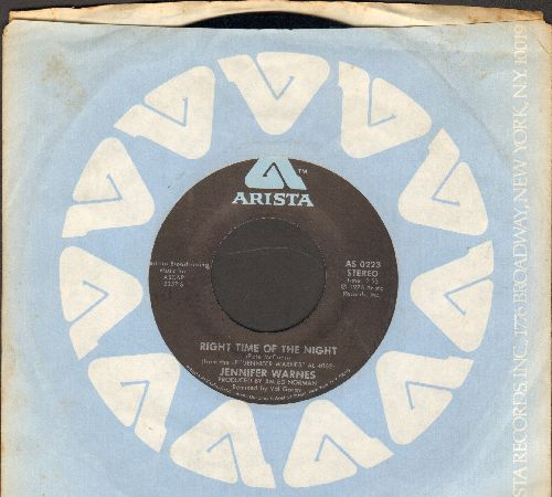 Warnes, Jennifer - Right Time Of The Night/Daddy Don't Go (with Arista company sleeve) - NM9/ - 45 rpm Records