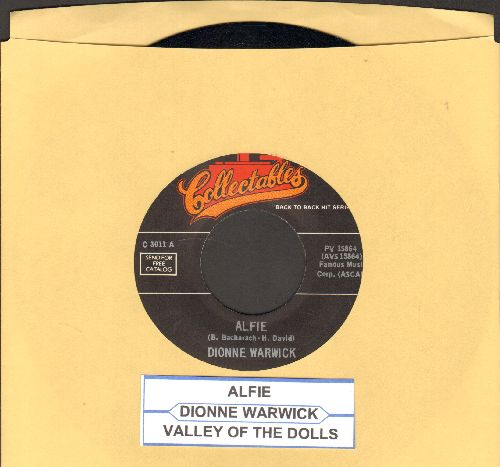 Warwick, Dionne - Alfie/Valley Of The Dolls (double-hit re-issue with juke box label) - NM9/ - 45 rpm Records