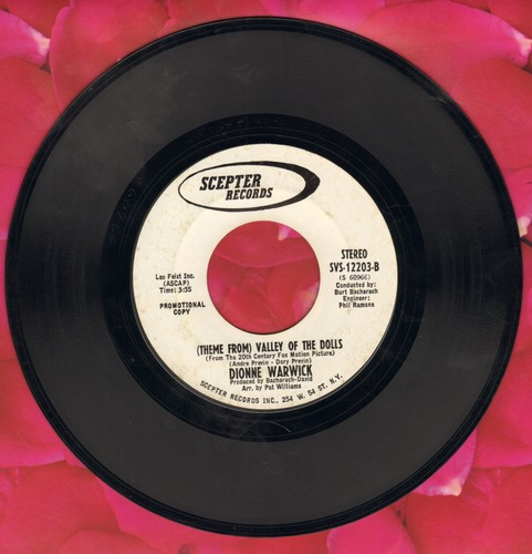 Warwick, Dionne - Theme From Valley Of The Dolls (double-A-sided DJ advance pressing) - NM9/ - 45 rpm Records