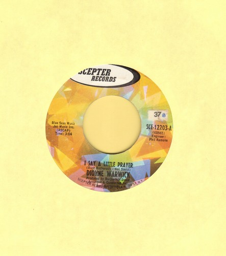Warwick, Dionne - I Say A Little Prayer/Theme From Valley Of The Dolls (bb) - VG7/ - 45 rpm Records