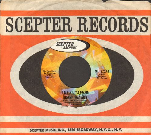 Warwick, Dionne - I Say A Little Prayer/Theme From Valley Of The Dolls (with Scepter company sleeve) - NM9/ - 45 rpm Records