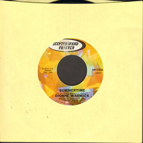 Warwick, Dionne - Summertime/Here I Am (early double-hit re-issue) - NM9/ - 45 rpm Records