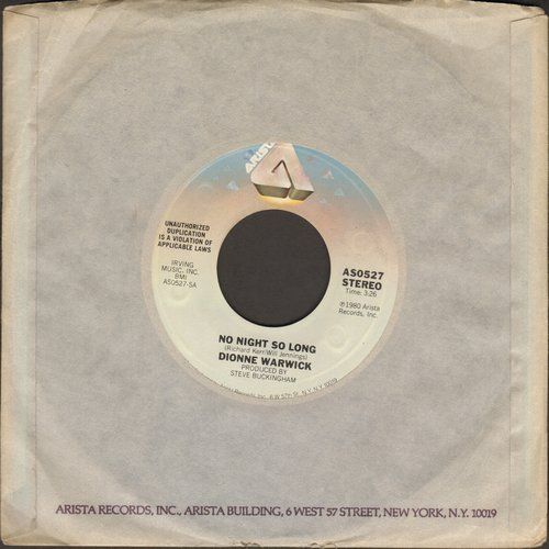 Warwick, Dionne - No Night So Long/Reaching For The Sky - NM9/ - 45 rpm Records