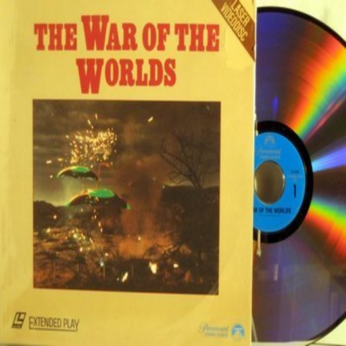 War Of The Worlds - The War Of The Worlds - LASER DISC of the 1953 Film Version of the H. G. Wells Sci-Fi Classic  (THIS IS A LASER DISC, NOT ANY OTHER KIND OF MEDIA!) - NM9/EX8 - Laser Discs