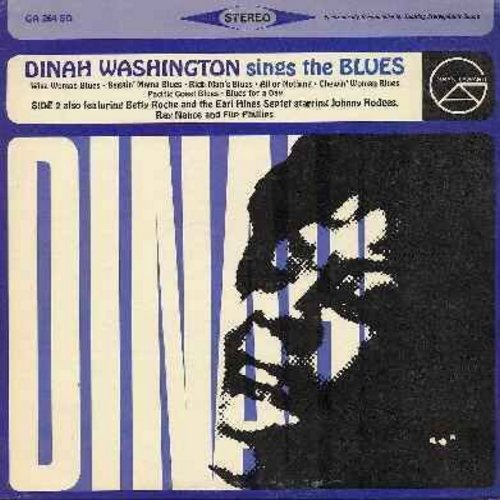 Washington, Dinah - Dinah Washington Sings The Blues: Rich Man's Blues, Chewin' Woman Blues, Blues For A Day, I'll Get By (Vinyl STEREO LP record) - NM9/EX8 - LP Records