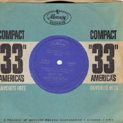 Washington, Dinah - Bewitched/Mood Indigo (RARE 7 inch 33rpm record with small spindle hole, with vintage Mercury company sleeve) - M10/ - 45 rpm Records