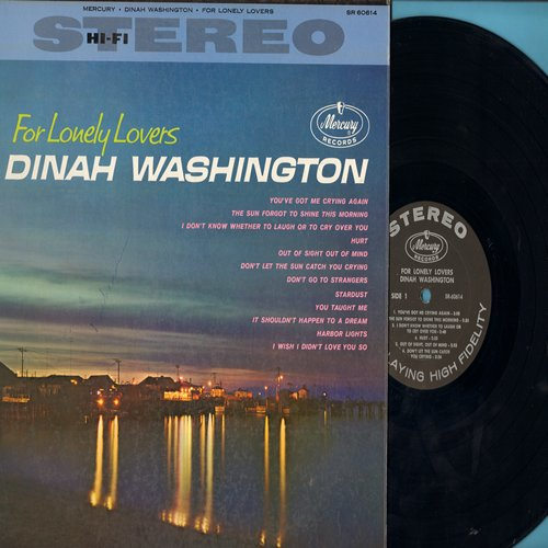 Washington, Dinah - For Lonely Lovers: Hurt, Don't Let The Sun Catch You Crying, Harbor Lights, Out Of Sight Out Of Mind (Vinyl STEREO LP record, NICE condition!) - NM9/EX8 - LP Records