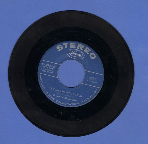Washington, Dinah - It Could Happen To You/The Age Of Miracles (RARE STEREO Pressing!) - EX8/ - 45 rpm Records