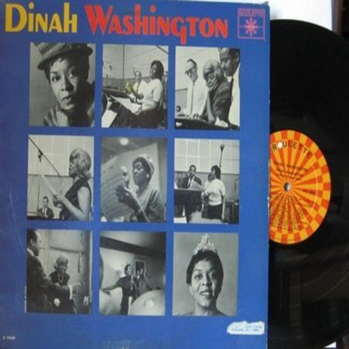 Washington, Dinah - Dinah Washington: What's New, I Used To Love You, I'll Never Stop Loving You, He's My Guy, Me And My Gin (Vinyl MONO LP record) - EX8/VG7 - LP Records