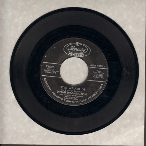 Washington, Dinah - Love Walked In/I'm In Heaven Tonight  - VG7/ - 45 rpm Records