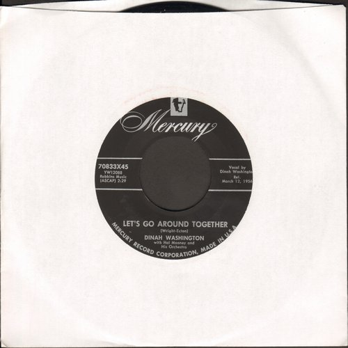 Washington, Dinah - Let's Go Around Together/Let's Get Busy Too - EX8/ - 45 rpm Records