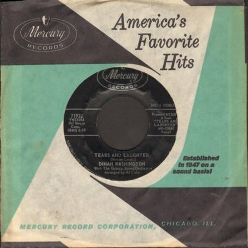 Washington, Dinah - Tears And Laughter/If I Should Lose You (with vintage Mercury company sleeve)(bb) - NM9/ - 45 rpm Records