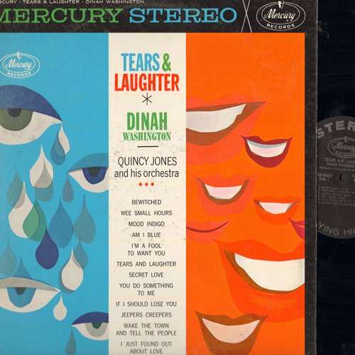 Washington, Dinah - Tears & Laughter: Bewitched, Am I Blue?, Secret Love, Jeepers Creeper, You Do Something To Me (Vinyl STEREO LP record) - EX8/EX8 - LP Records