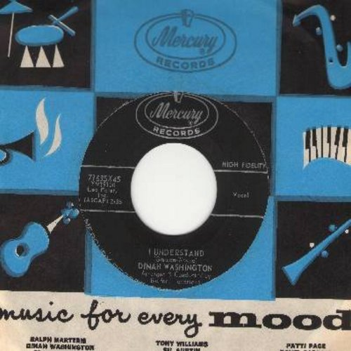 Washington, Dinah - I Understand/This Better Earth (with vintage Mercury company sleeve) - NM9/ - 45 rpm Records