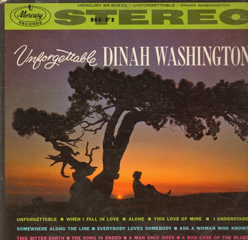Washington, Dinah - Unforgettable: I Understand, This Bitter Earth, Everybody Loves Somebody, When I Fall In Love (Vinyl STEREO LP record) - VG7/VG7 - LP Records