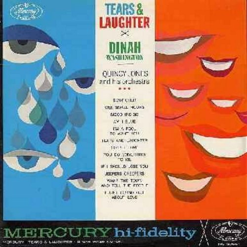 Washington, Dinah - Tears & Laughter: Bewitched, Am I Blue?, Secret Love, Jeepers Creeper, You Do Something To Me (Vinyl MONO LP record, DJ advance copy) - VG7/NM9 - LP Records