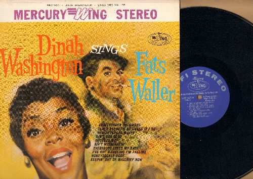 Washington, Dinah - Dinah Washington Sings Fats Waller:Ain't Misbehavin', Everybody Loves My Baby, Honeysuckle Rose, Squeeze Me, The Jitterbug Waltz, Ain't Cha Glad (Vinyl STEREO LP record) - NM9/NM9 - LP Records